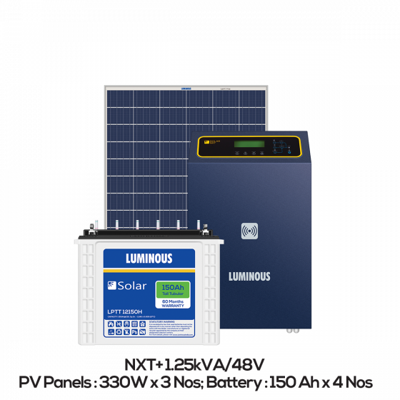 Buy Solar Off Grid Combo 1 Kw Online At Best Price In India Luminous India - Get Buy Solar Panels Online Gif