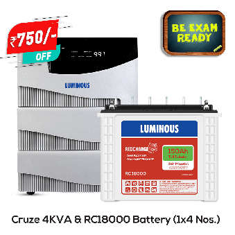Combo - Home UPS 4 kVA Cruze+ & Battery 150 Ah RC18000